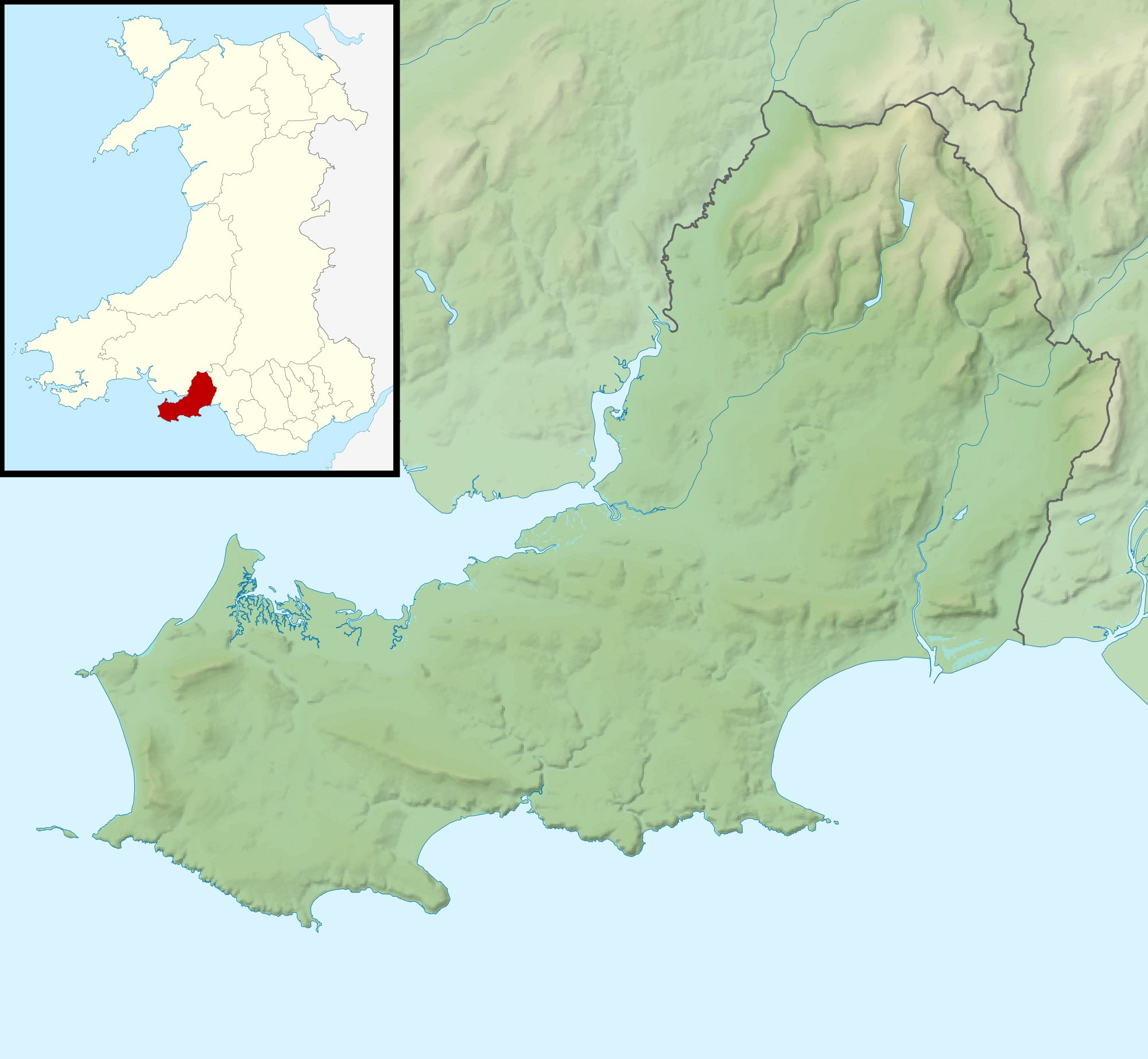 FileSwansea UK relief location mapjpg Wikimedia Commons