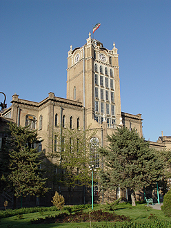 Saat Tower, Municipality Museum and former municipality office. Tabriz City Hall.jpg