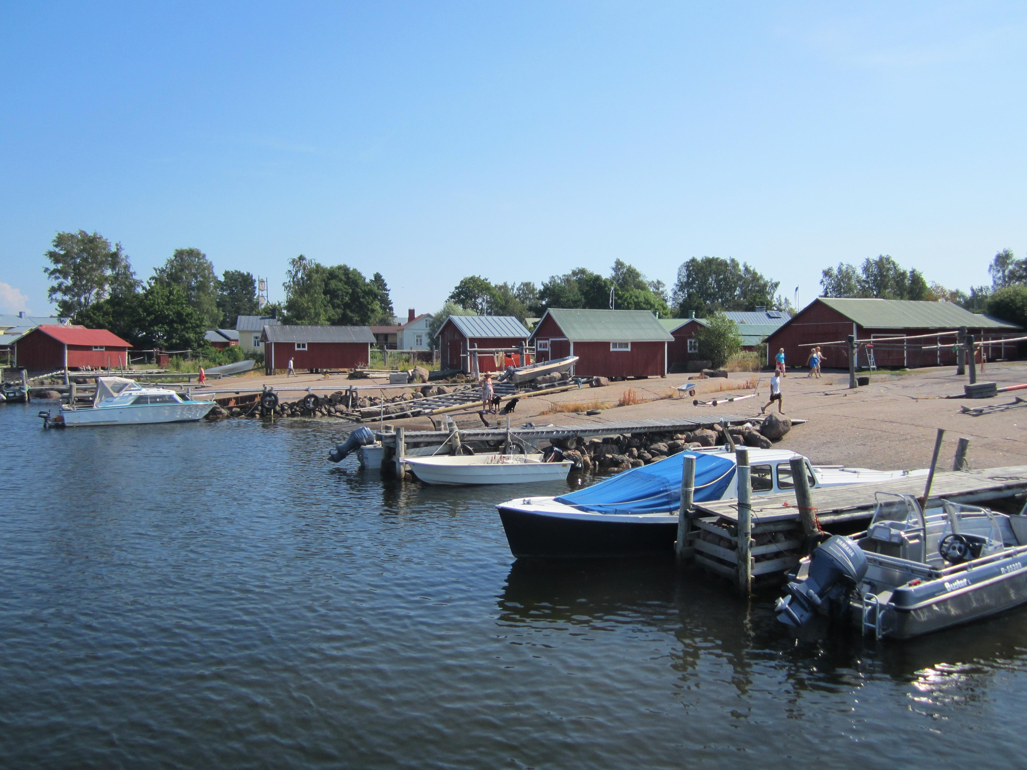 Tammio Tammion kylä näkymä mereltä.jpg