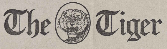 Logo from The Tiger Vol. XII No. 25 on May 2, 1917. TheTigerClemson1917.png