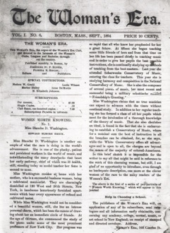 Front page of The Woman's Era, September 1894