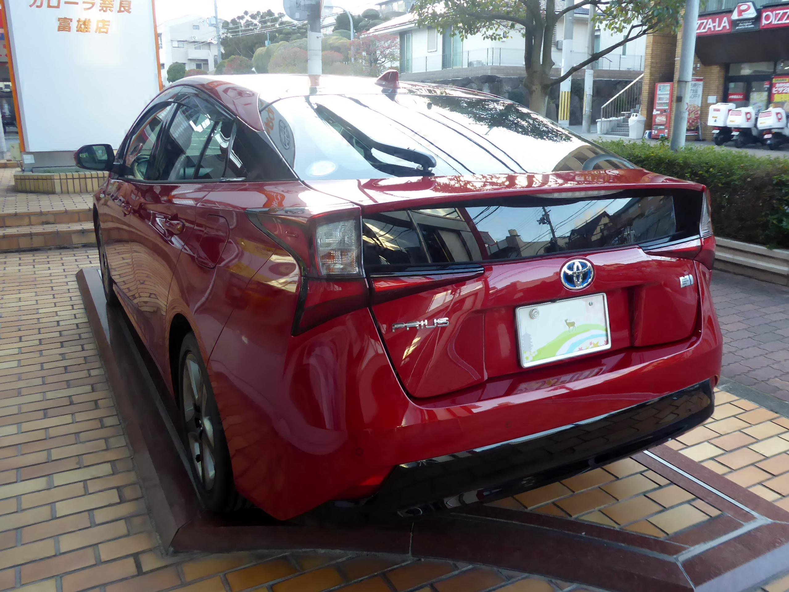 """Toyota PRIUS A Premium""""Touring Selection"""" (DAA-ZVW51-AHXHB(T)) rear.jpg"""