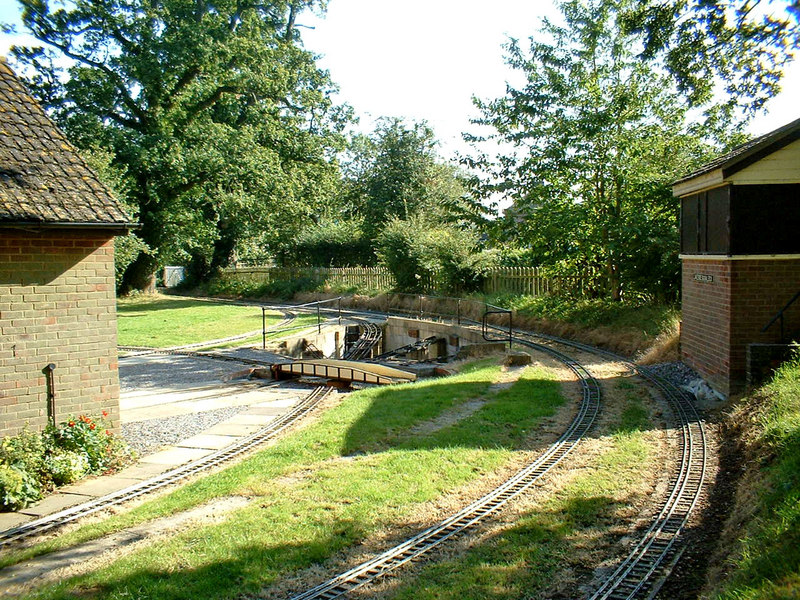 Track of miniature railway at Coate Water Country Park - geograph.org.uk - 1690592