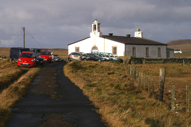 File:Uyeasound Kirk on Remembrance Sunday - geograph.org.uk - 1039172.jpg