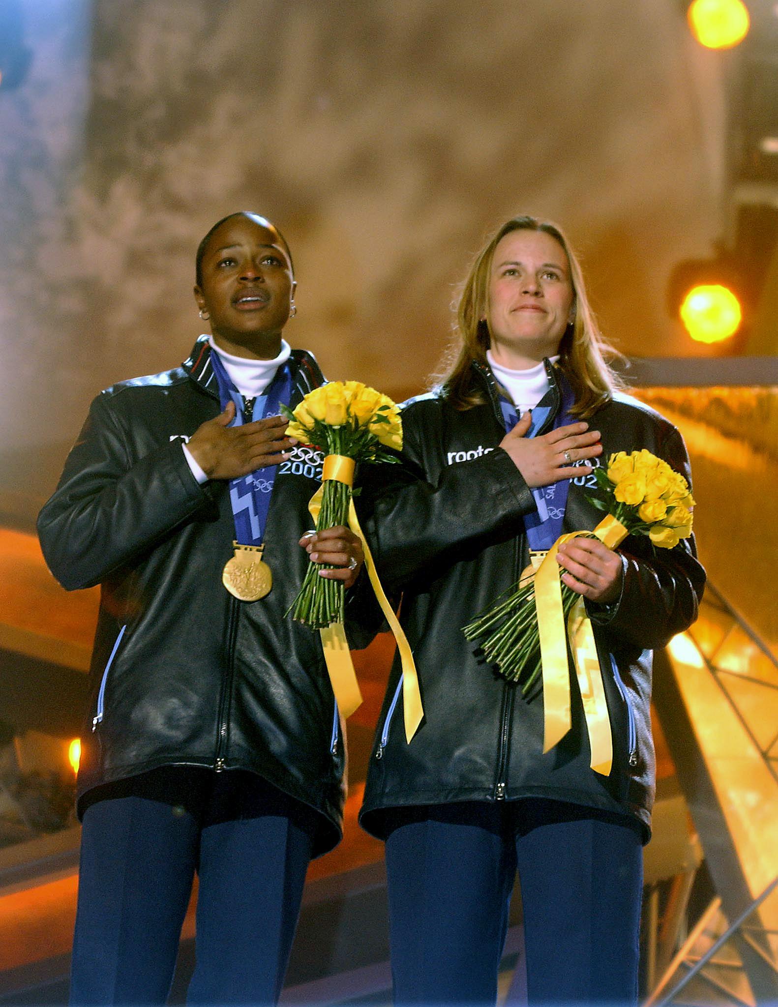 Vonetta Flowers Olympic medal in bobsleigh