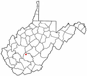 Location of Gauley, West Virginia