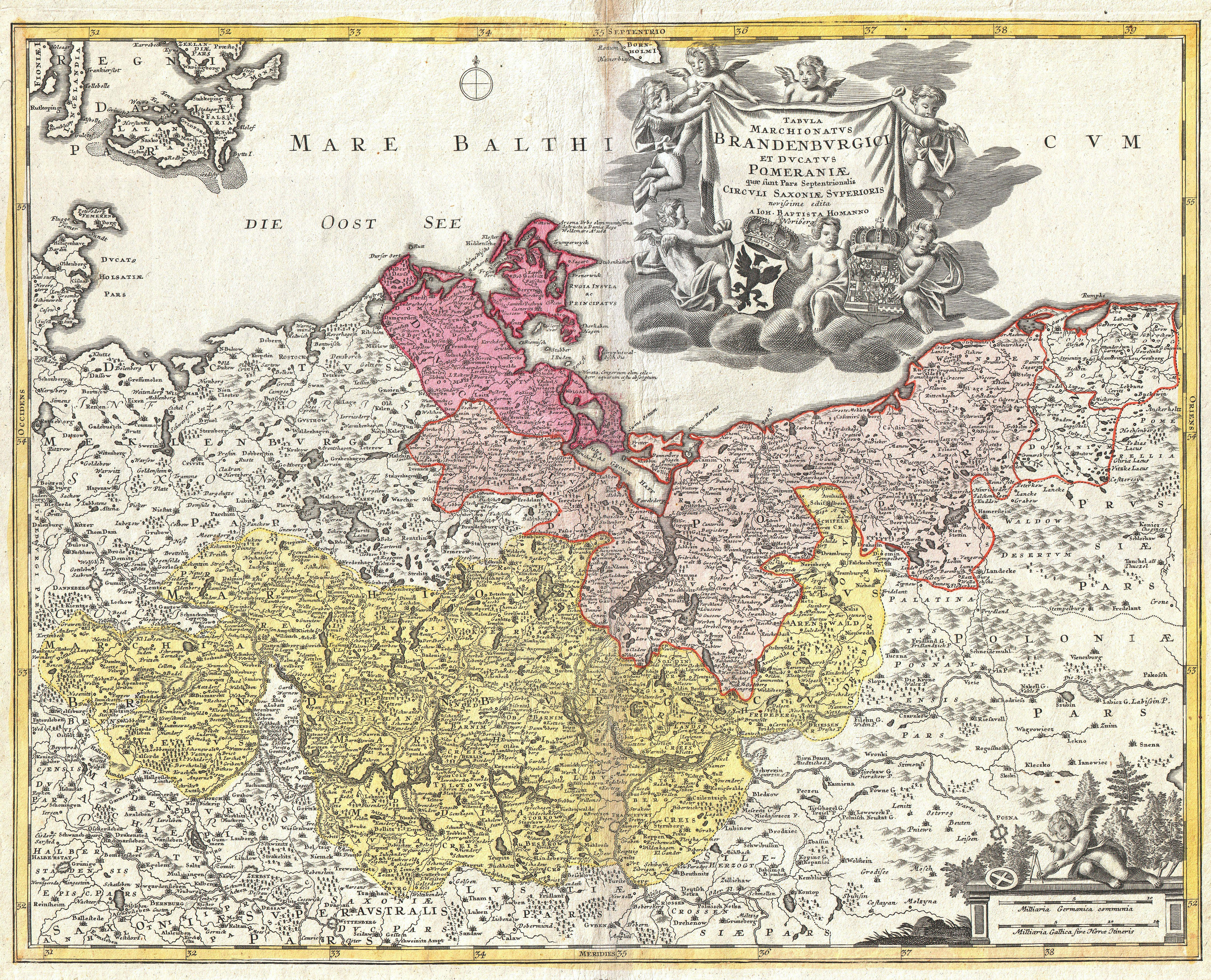 File:1720 Homann Map of Brandenberg and Pomerania, Germany - Geographicus -  Brandenburgici-
