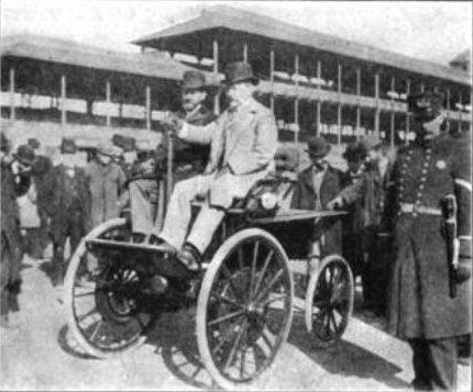 Morris y Salom en 1894 con Electrobat