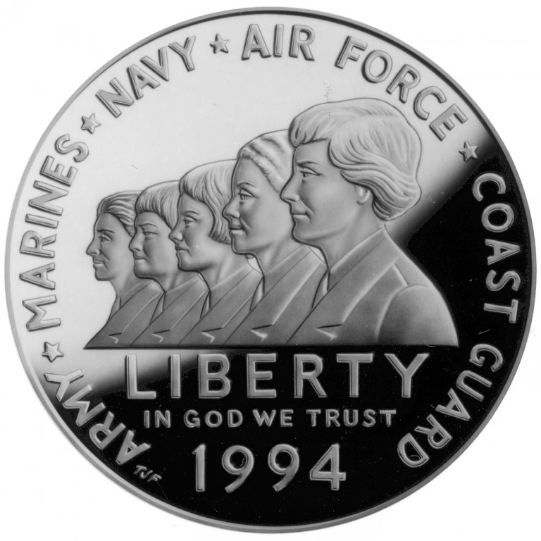 Women in Military Service for America Memorial silver dollar
