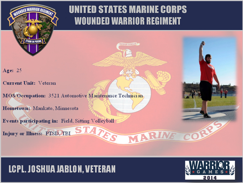 File 2014 Warrior Games Marine Team Athlete Profile 140926 M DE387
