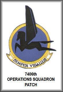 7406th Operations Squadron Patch - Rhein Main AFB Germany