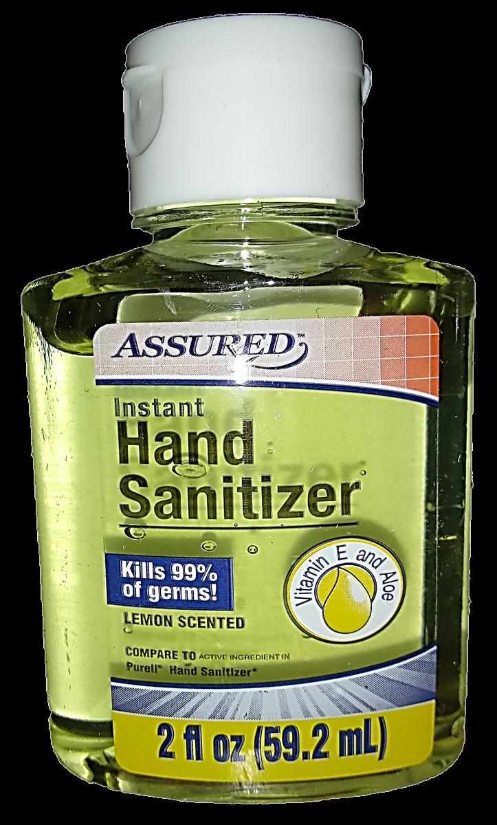 File Assured Instant Hand Sanitizer 2 Fl Oz Lemon Scented Png Wikimedia Commons