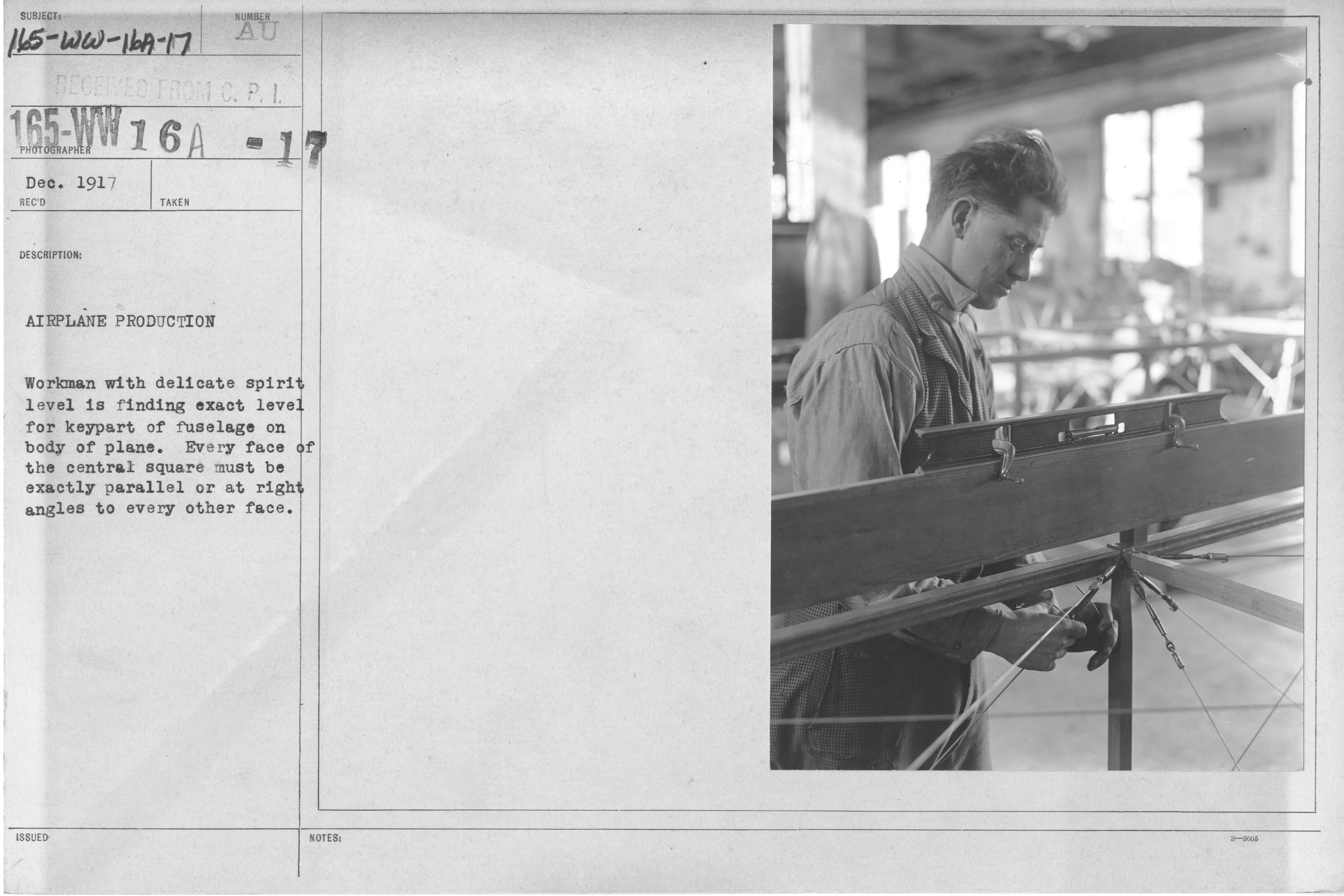 File:Airplanes - Parts - Airplane Production. Workman with ... for Spirit Level Parts  579cpg