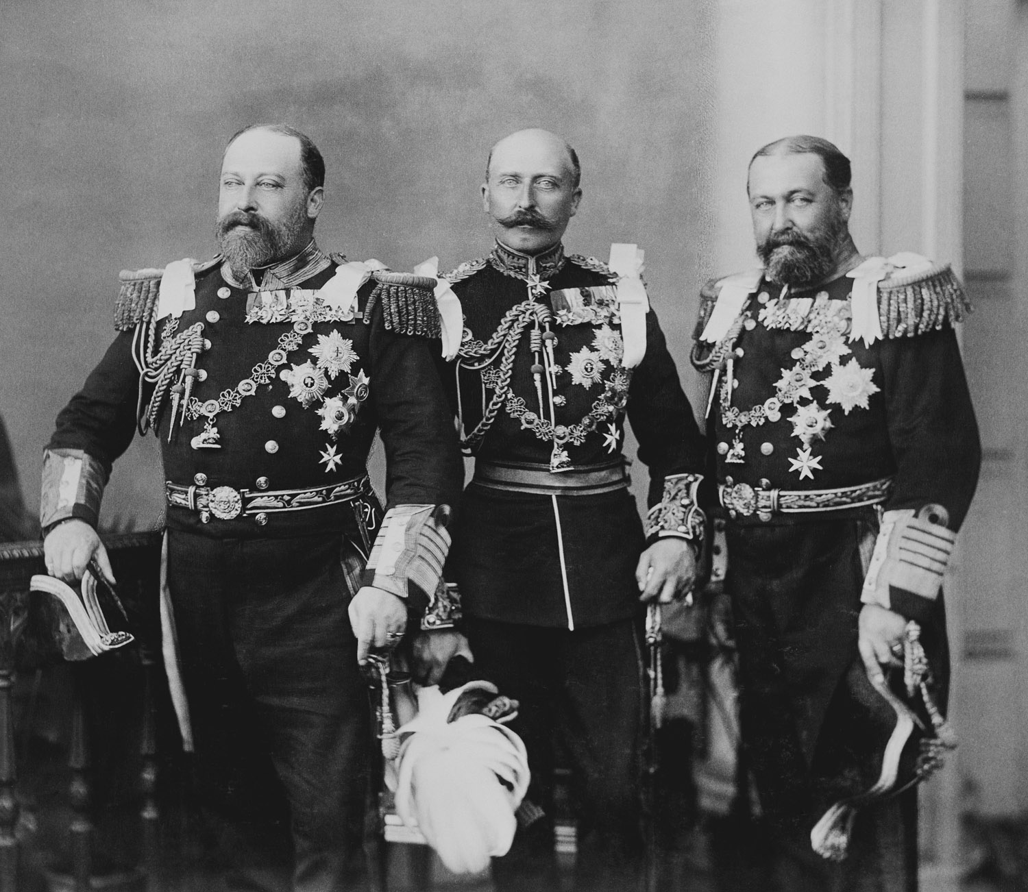 File:Albert Edward, Prince of Wales, Arthur, Duke of Connaught, and