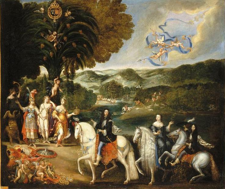 Allégorie du traité de paix des Pyrénées par Claude Deruet.jpg