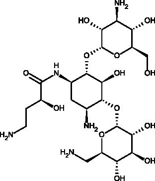 Картинки по запросу Amikacin Inhale structure