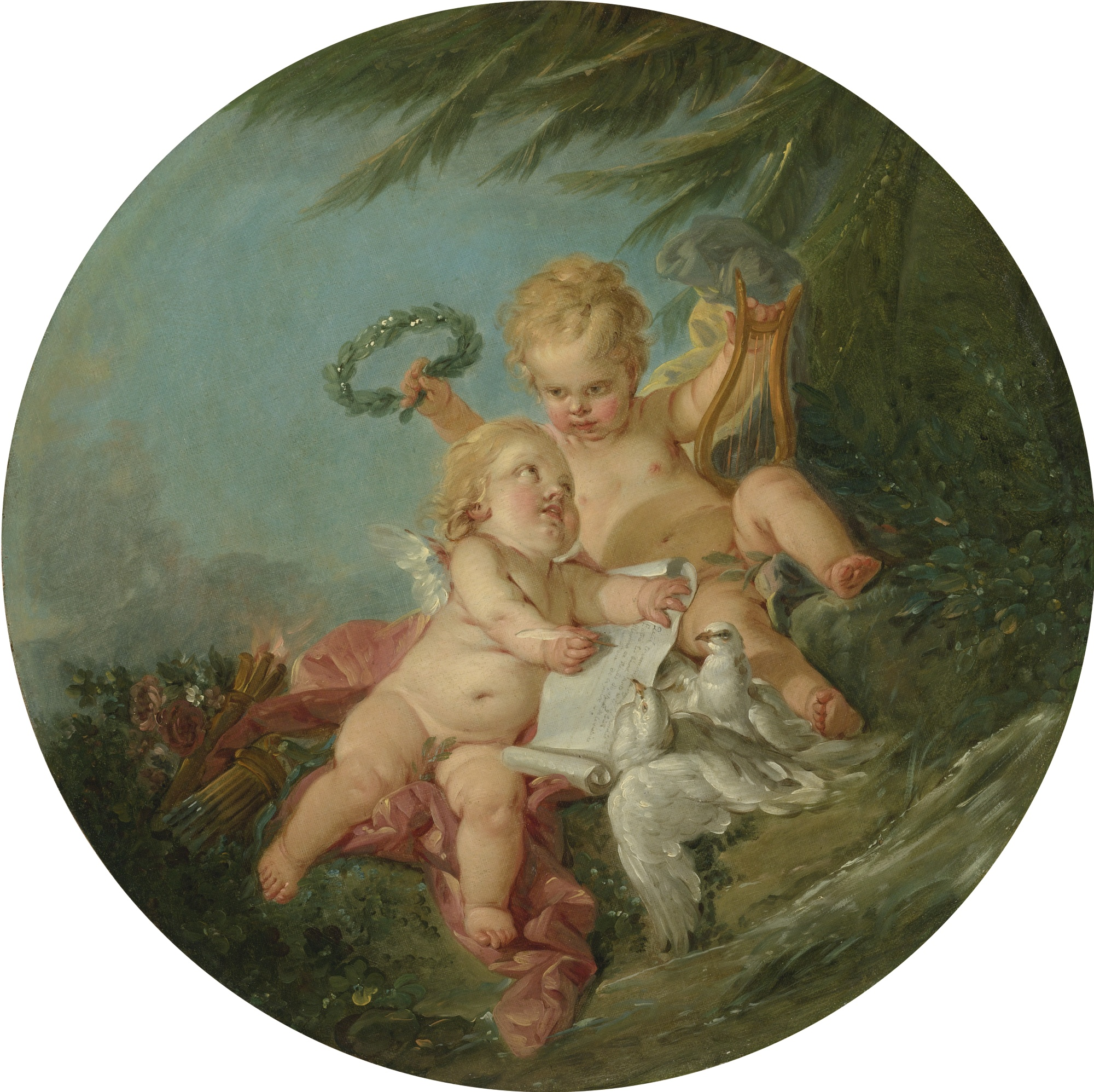 An allegory of poetry by François Boucher