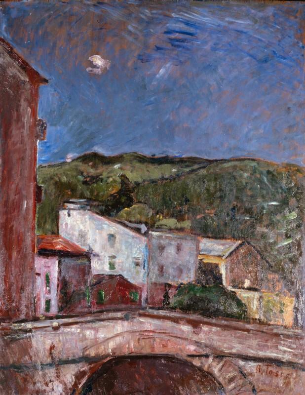 Arturo Tosi, Paesaggio con ponte