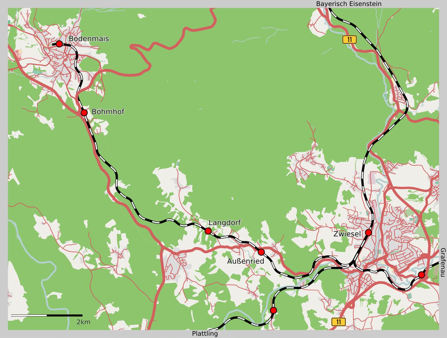 Bahnstrecke Zwiesel Bodenmais Wikipedia