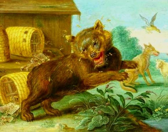 Bear & Bees van Kessel.jpg