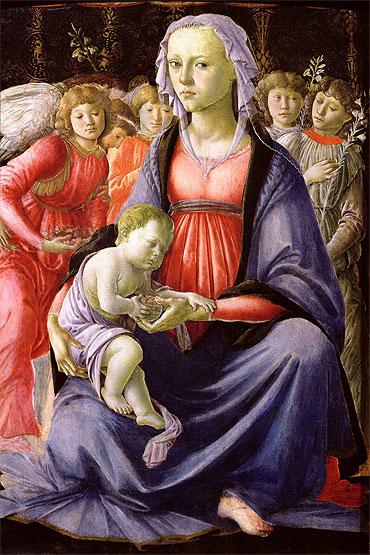 Virgem com o Menino e cinco anjos