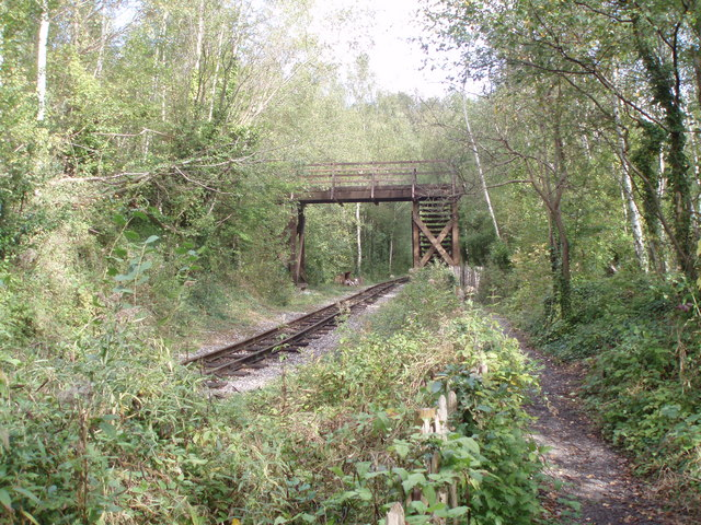 File:Bridge over the line to the chalk pits at Amberley - geograph.org.uk - 598764.jpg