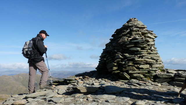 Cairn on Coniston Old Man Summit - geograph.org.uk - 1542334