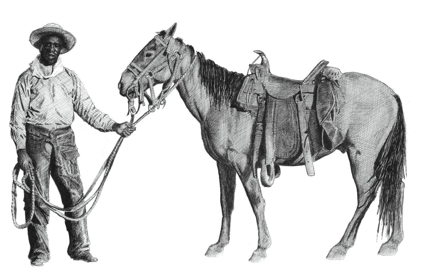 Filecowboy Horsejpg Wikimedia Commons