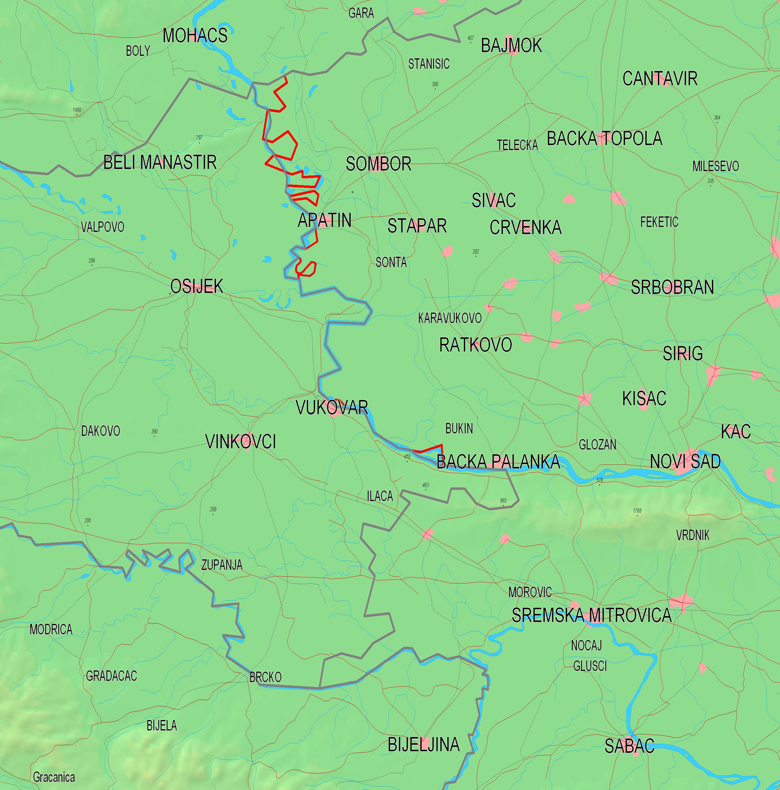 Carte Croatie Ilok.Frontiere Entre La Croatie Et La Serbie Wikipedia