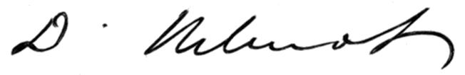 David Wilmot's Signature