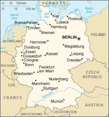 karta nemacke gradovi Njemačka   Wikipedia karta nemacke gradovi