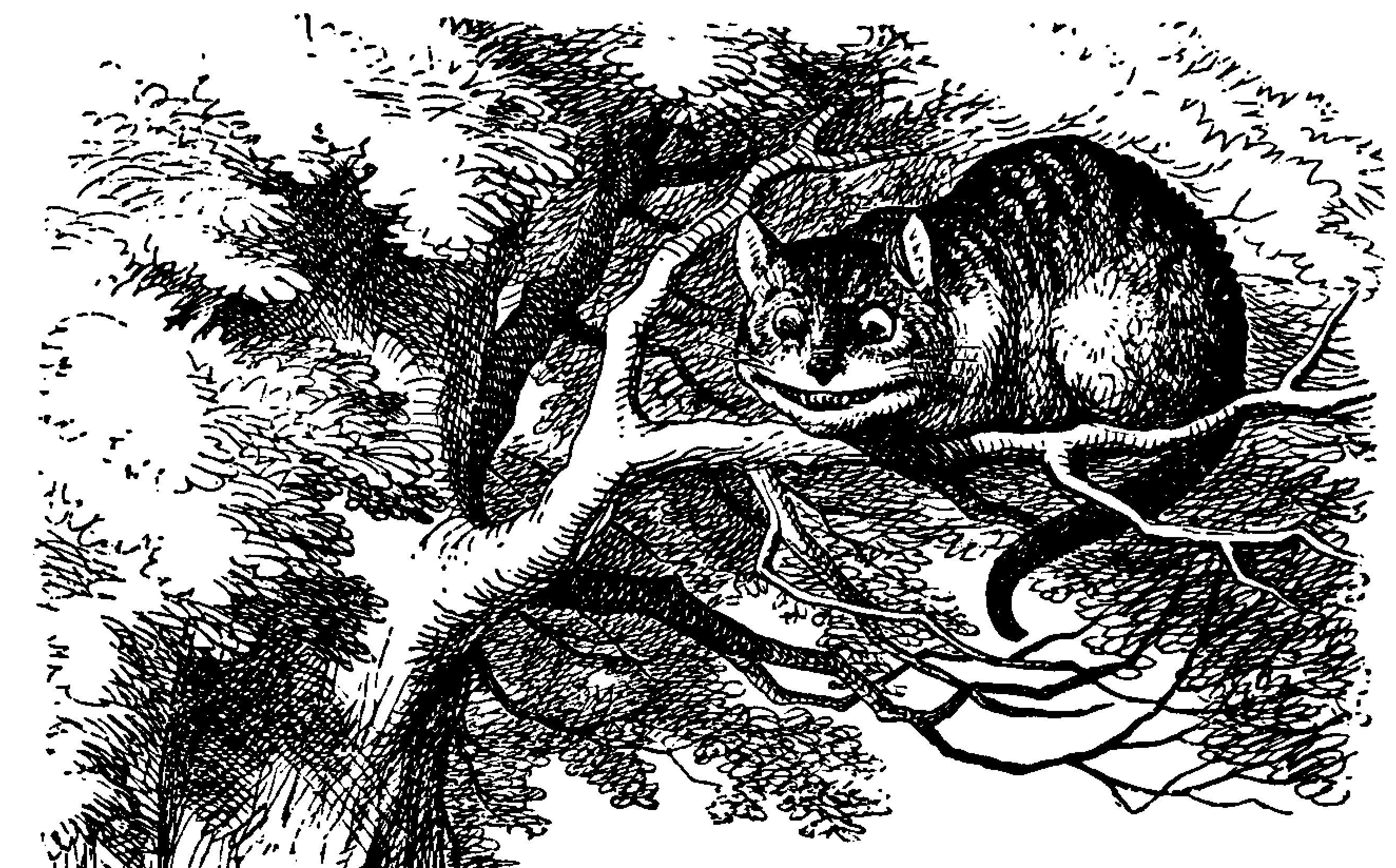 Tenniel's illustration of the Cheshire Cat
