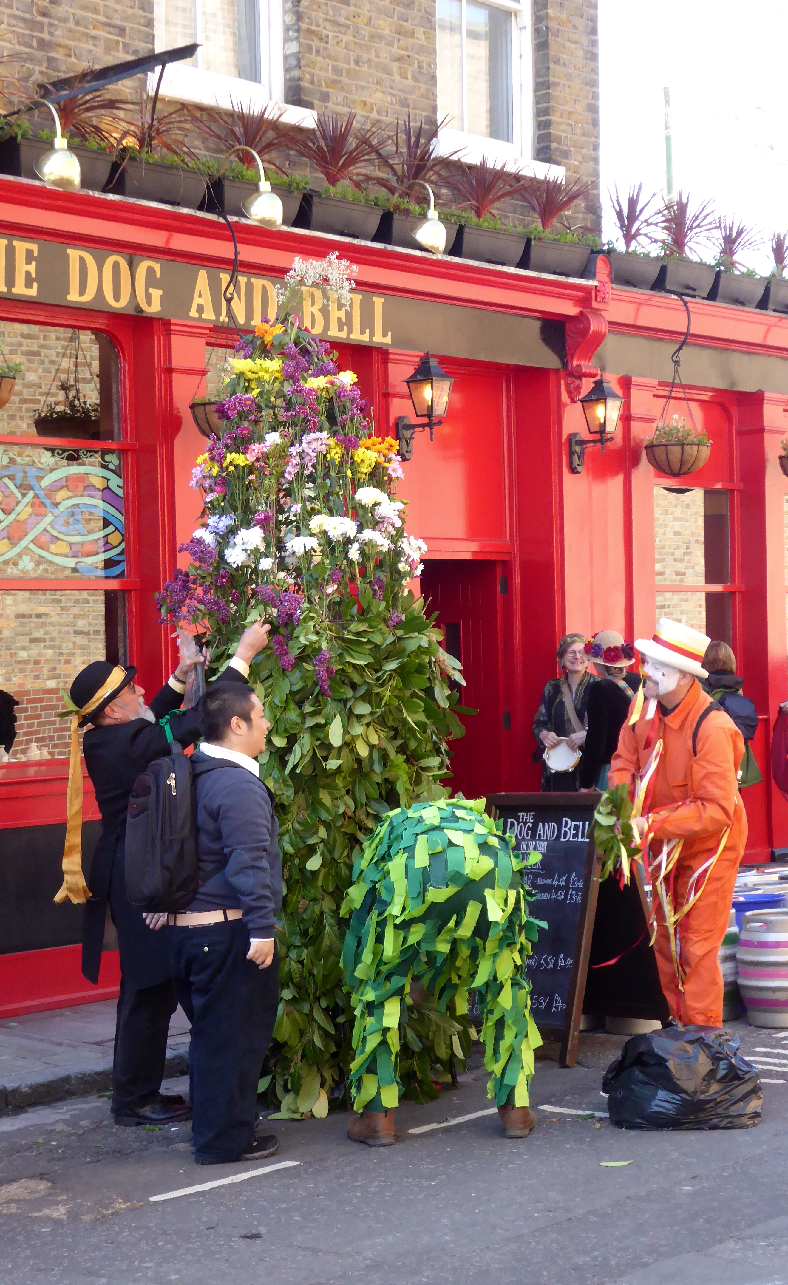 File:Dressing the Jack outside the Dog and Bell Pub in