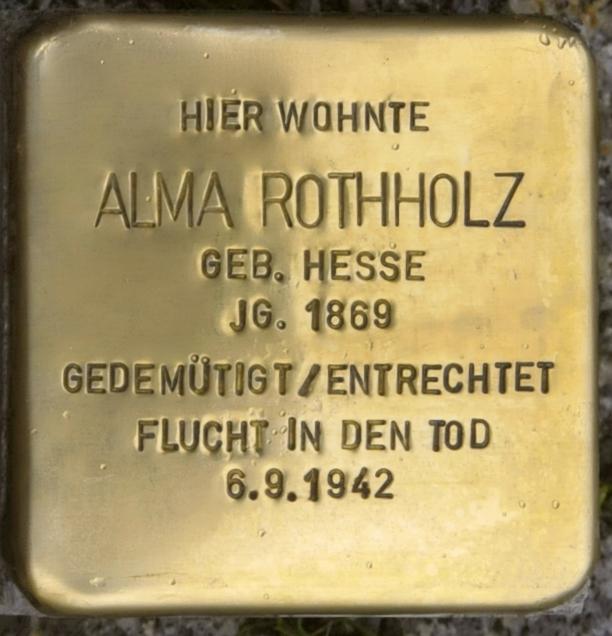 Eisenberg-Stolperstein-Alma-Rothholz-CTH