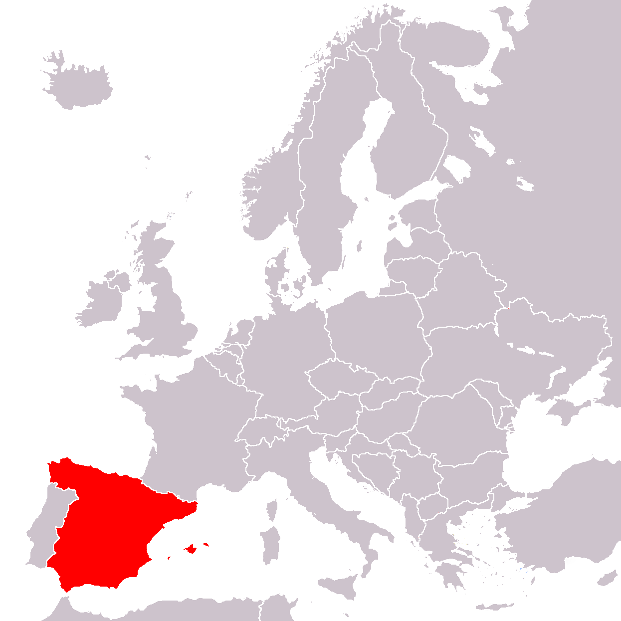 Spain Map Of Europe.File Europe Location Spain Png Wikimedia Commons