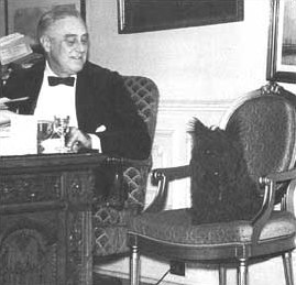 FDR and Fala side by side