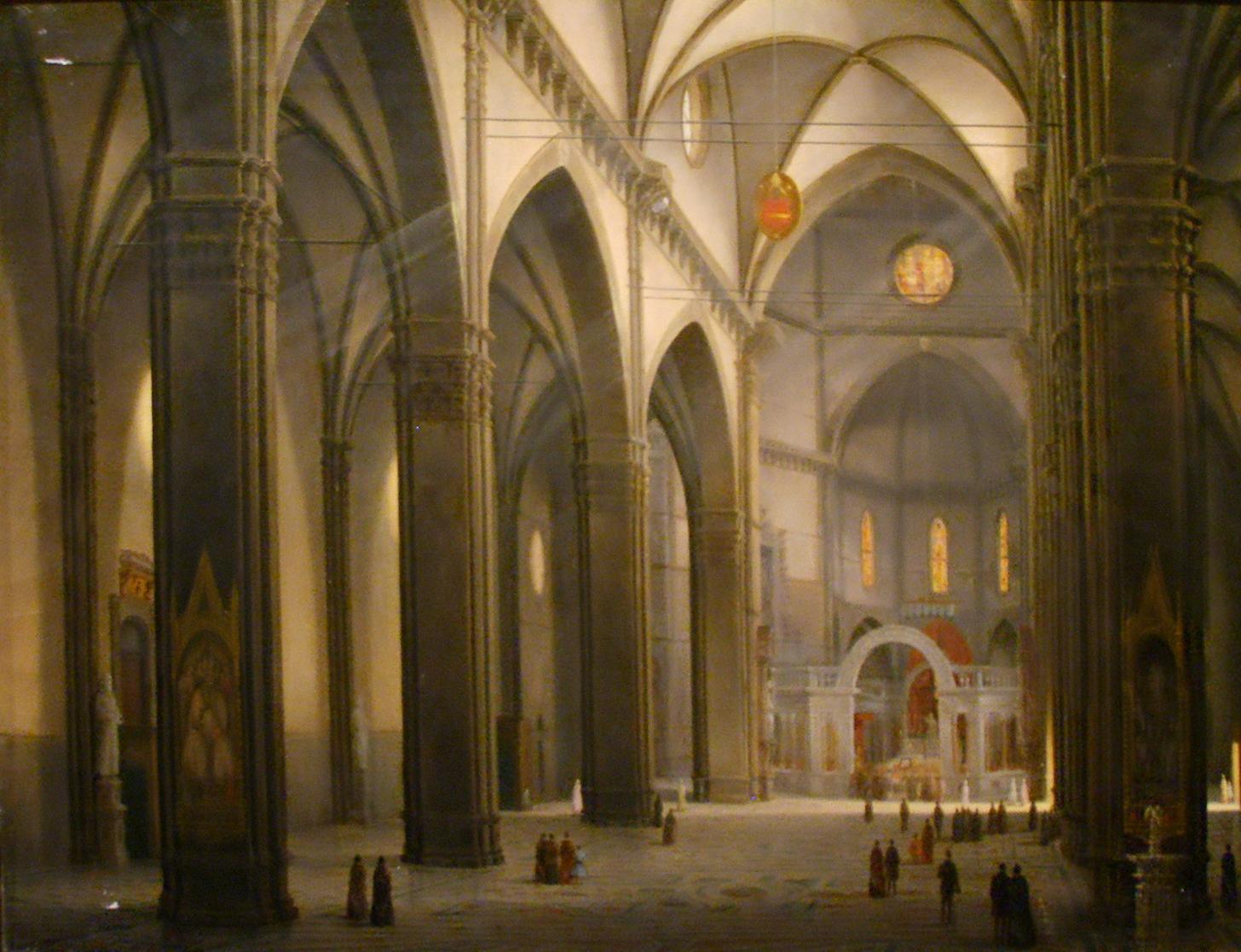 Fabio Borbottoni, Interior of the Duomo of Florence, ca. 1902.