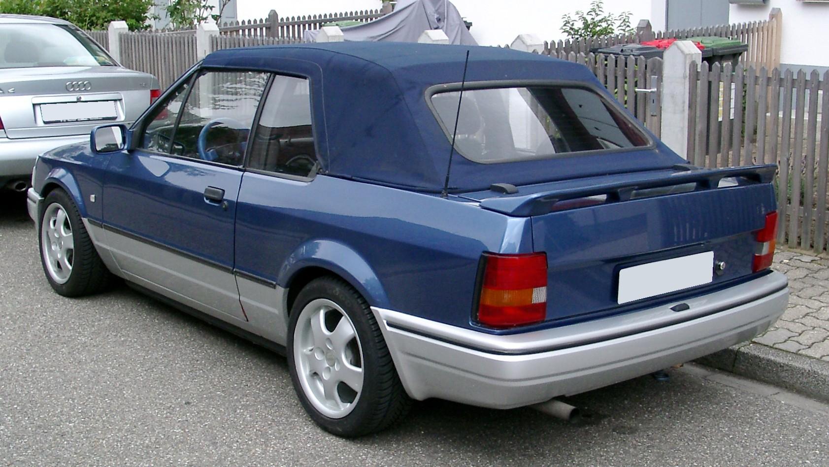 file ford escort cabriolet rear wikimedia. Black Bedroom Furniture Sets. Home Design Ideas
