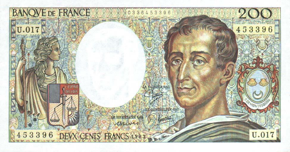 File france 200 francs 1983 wikimedia commons for France francs