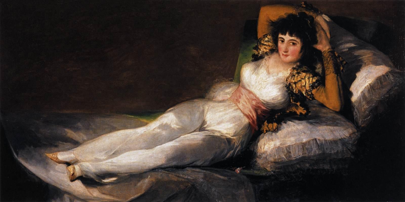 Geyimli Maxa, 1800. Fransisko Qoya