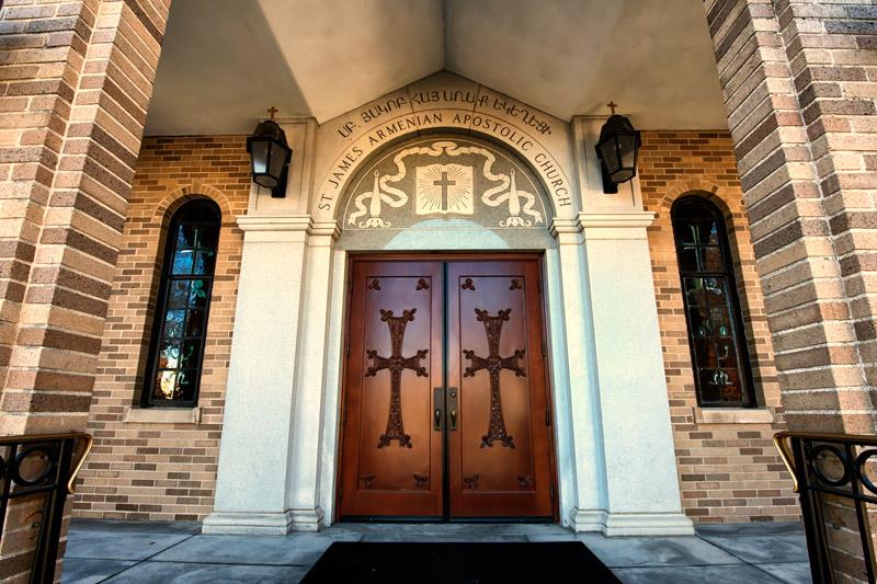 Filefront Doors St James Armenian Church Watertown Mag