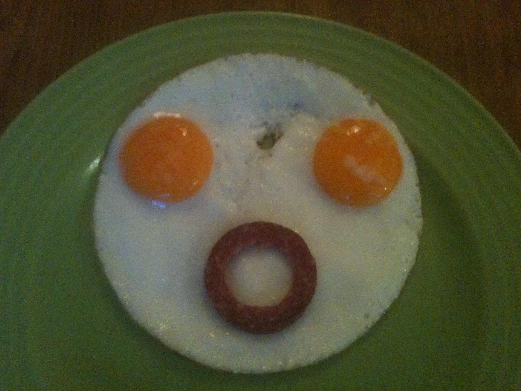 Funny Cartoon Breakfast Food