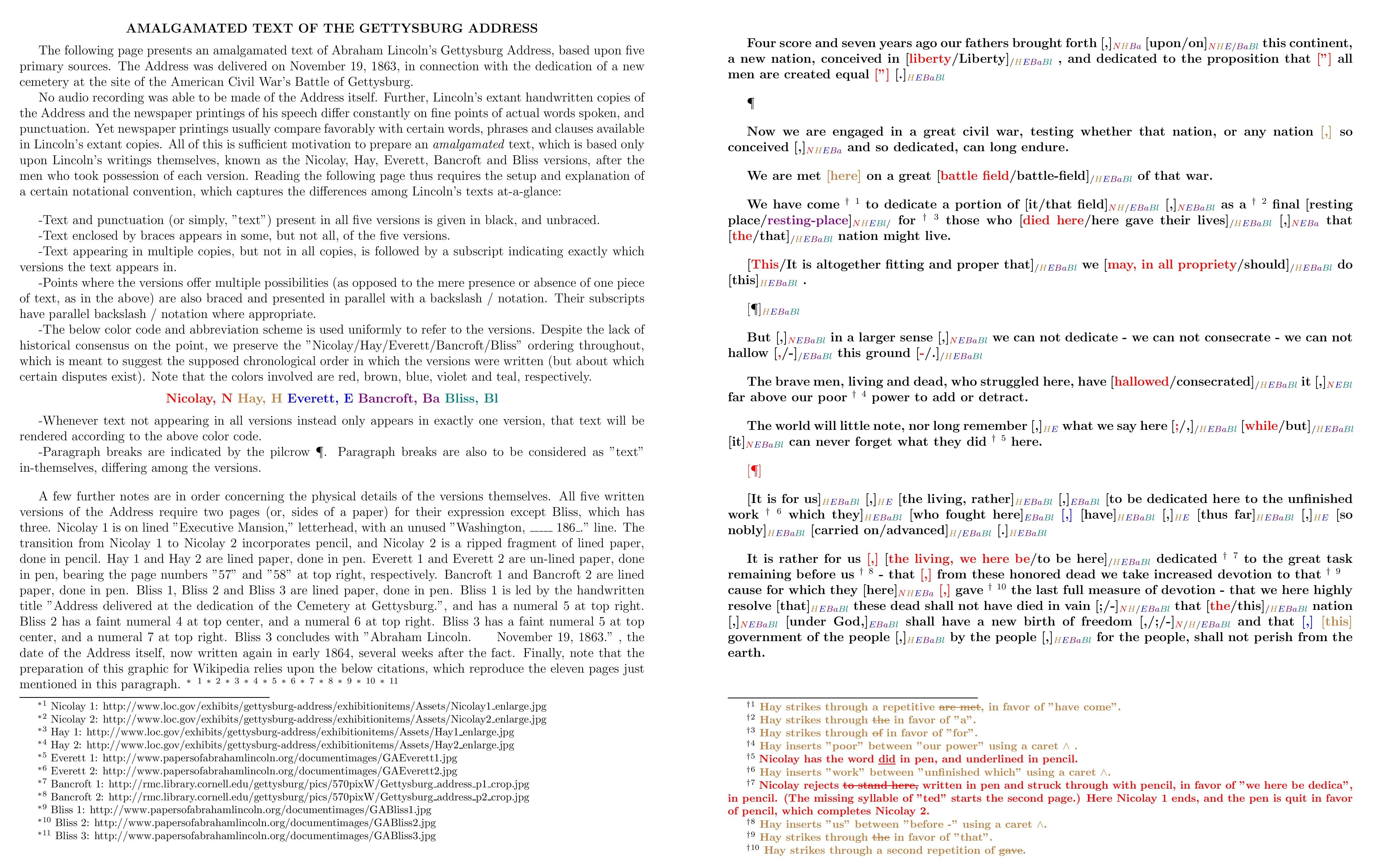 Gettysburg Addres Wikiwand Paraphrased Sentences