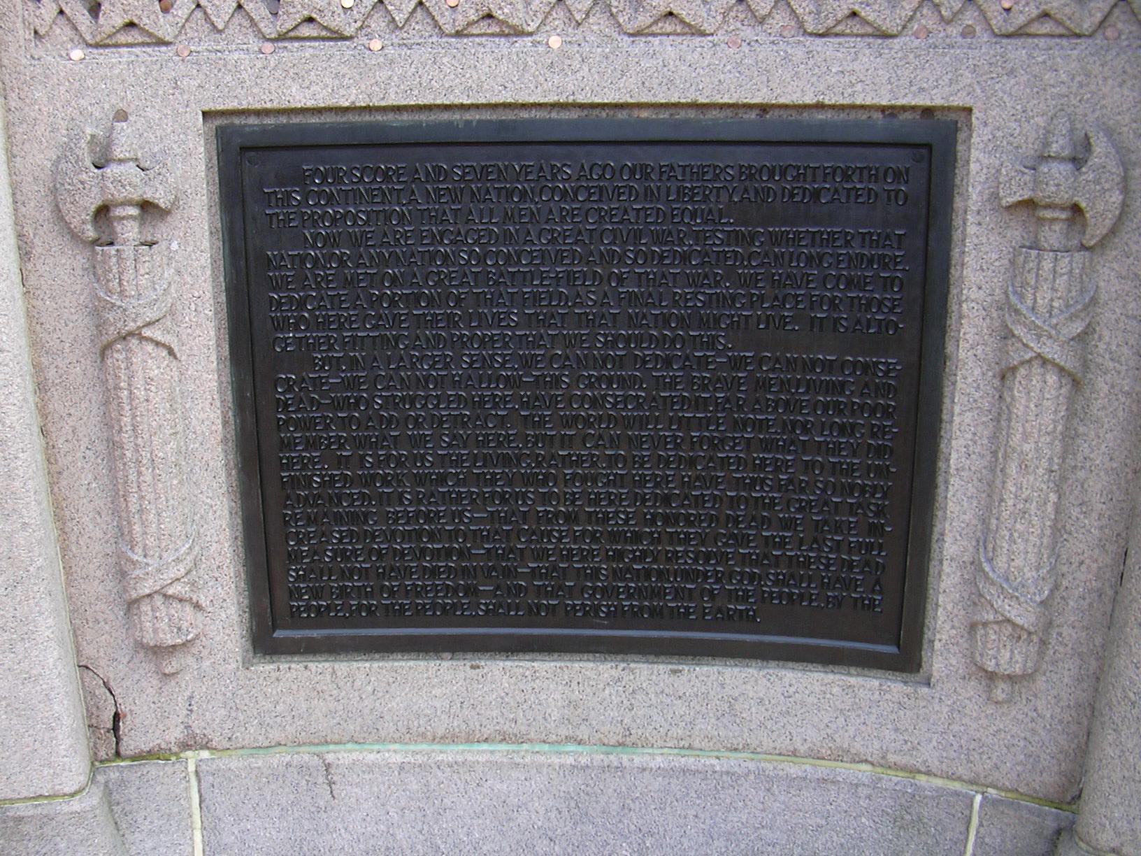 File Gettysburg Address Lincoln Speech Memorial Jpg