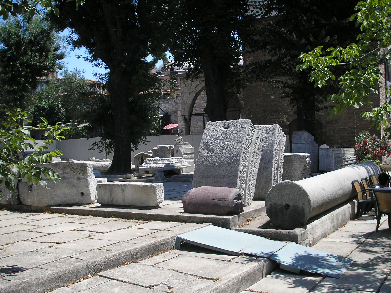 Marble blocks from the second church