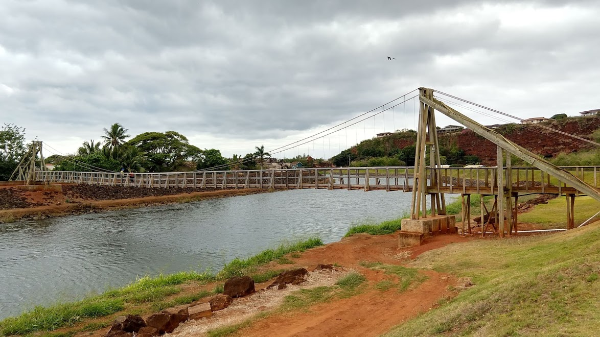 File Hanapepe Swinging Bridge Side View Jpg Wikimedia