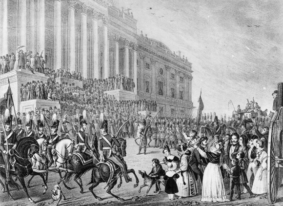 Harrison's Inauguration, courtesy of Library of Congress