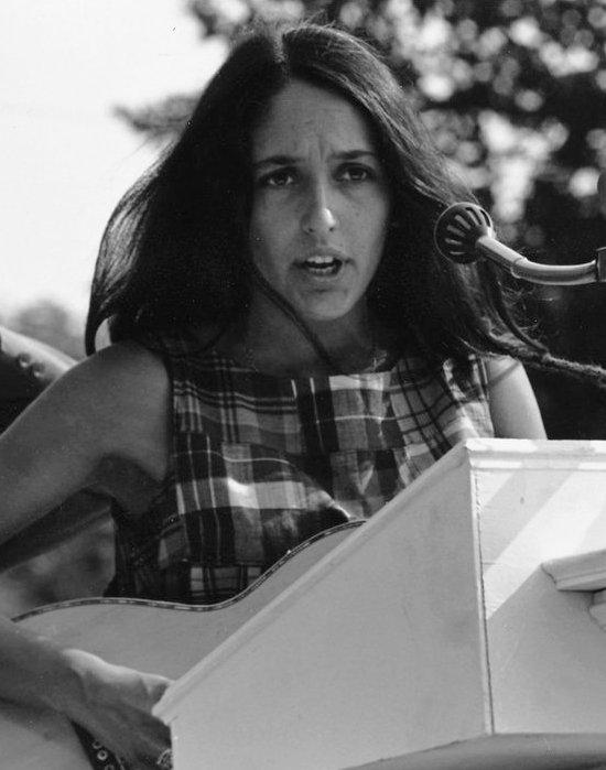 Joan Báez en 1963.