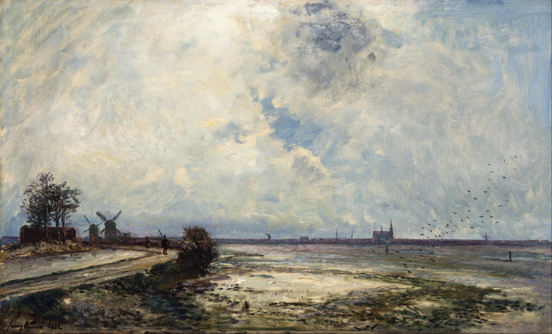 File Johan Barthold Jongkind - Dutch Landscape