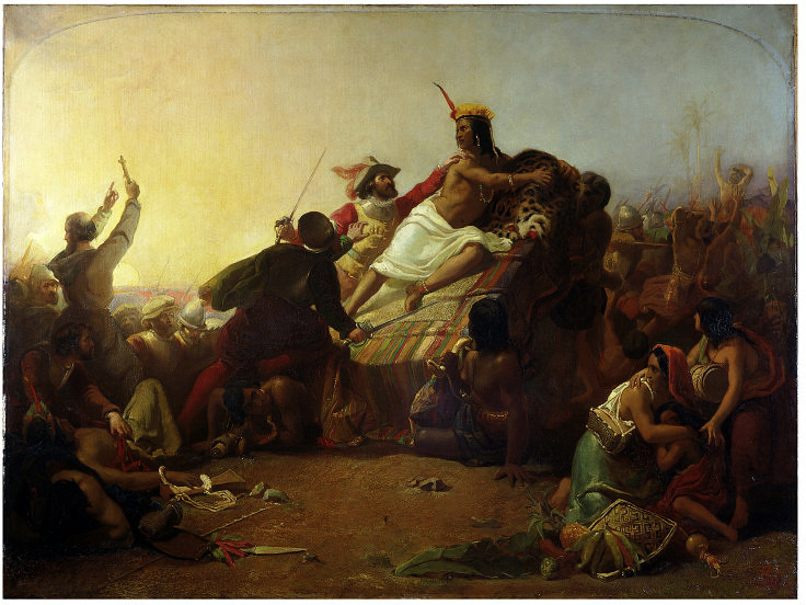 File:John Everett Millais - Pizarro seizing the Inca of Peru.jpg